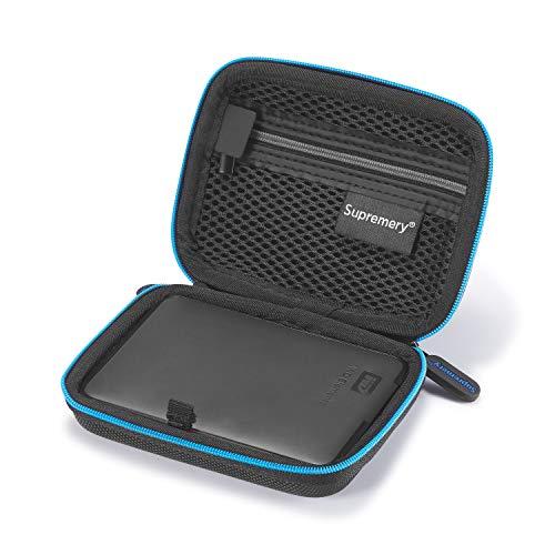 Supremery Case für Western Digital Elements Portable Externe Festplatte Case Tasche Schutz-Hülle für WD Elements Portable