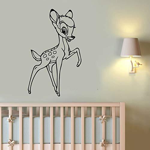 Cartoon Fawn Muursticker Vinyl Home Decoratie Verwijderbaar muurbehang