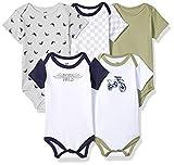 Hudson Baby Unisex Cotton Bodysuits, Dirt Bike, 12-18 Months