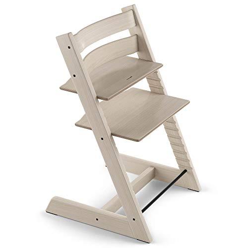 TRIPP TRAPP sedia evolutiva per neonati, bambini, adulti │ Seggiolone in legno di faggio regolabile in altezza │ Colore: Whitewash