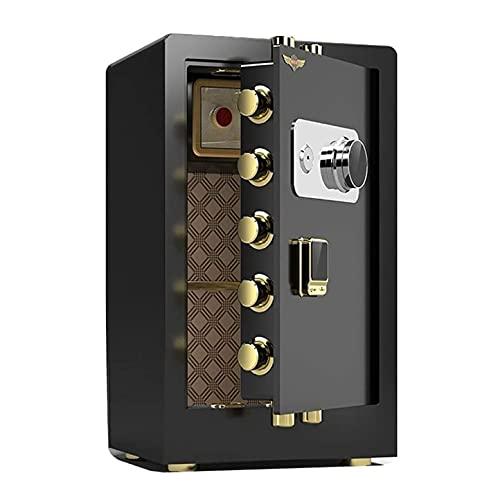 Anti-Robo Mecánico Contraseña Caja Fuerte,Emergencia Anular Clave,16 litros Capacidad 45 X 38 X 32 Cm,Casa Oficina A Salvo para La Pared, Suelo Fijaciones Y En La Pared (Color : Negro)