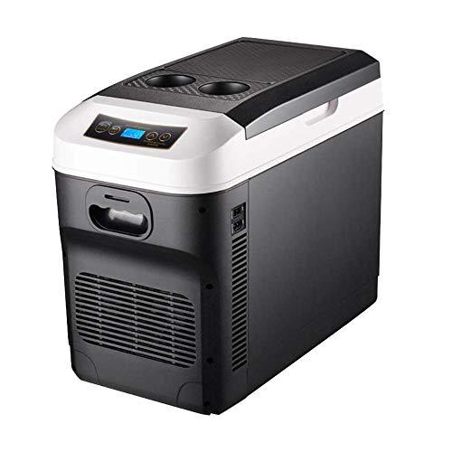 28L auto portatile frigorifero/auto e casa 12v / 24v / 220V frigorifero elettrico mini frigorifero portatile libero caldo e freddo esterno portatile,Nero
