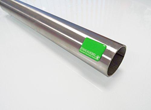 Edelstahlrohr 42,4 x 2 mm V2A Korn 240 geschliffen - 1m Edelstahlrundrohr-rostfrei Rohr Geländerrohr Handlaufrohr Rundrohr Stahlrohr