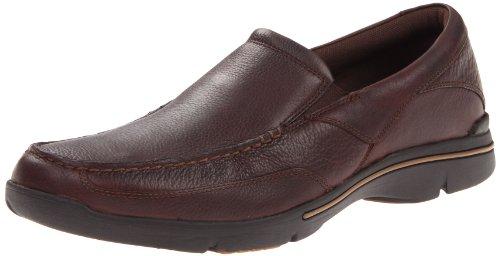 Rockport Mens Eberdon Shoe, Dark Brown Leather, 12 M US