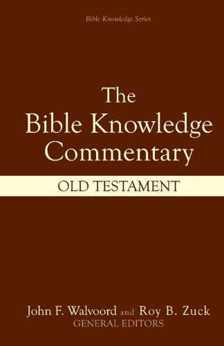 Bible Knowledge Commentary of the Old Testament