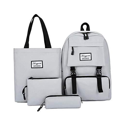 ZYXYY Conjunto de 4 piezas, mochilas escolares de nailon para mujer, mochila escolar informal, mochila escolar femenina para adolescentes, niñas, estudiantes