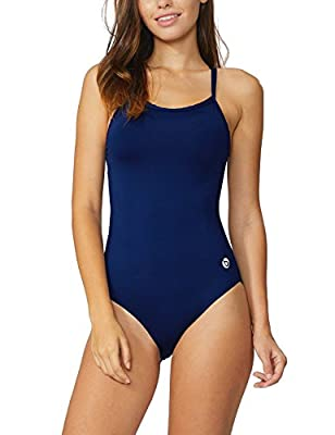 BALEAF Women's Athletic Training Adjustable Strap One Piece Swimsuit Swimwear Bathing Suit Navy 38