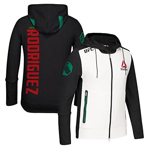 adidas Yair Rodríguez UFC Fight Kit Reebok (White/Black/Green) Walkout Hoodie Men's