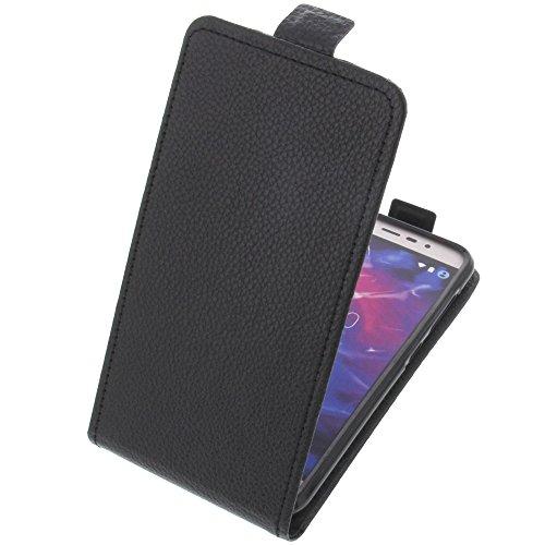 foto-kontor Tasche für MEDION Life E5006 Smartphone Flipstyle Schutz Hülle schwarz