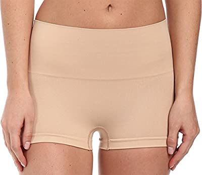SPANX Women's Everyday Shaping Panties Seamless Boyshort, Soft Nude, XL
