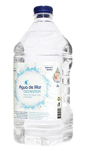 AGUA DE MAR OZONIZADA. Botella de 2 litros de Agua de Mar con Ozono. Bebida saludable e indispensable para cocinar (realza sabores, aporta nutrientes y mantiene frescos los alimentos)