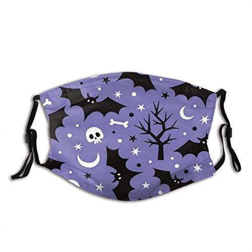 Halloween Washable Reusable Face Bandanas Balaclava Mask with Adjustable Elastic Strap