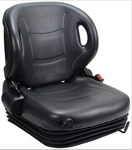 Asiento para Carretilla Elevadora Universal con Suspensión, Cinturón y Portadocumentos