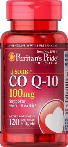coq-10 100mg 120 softgels