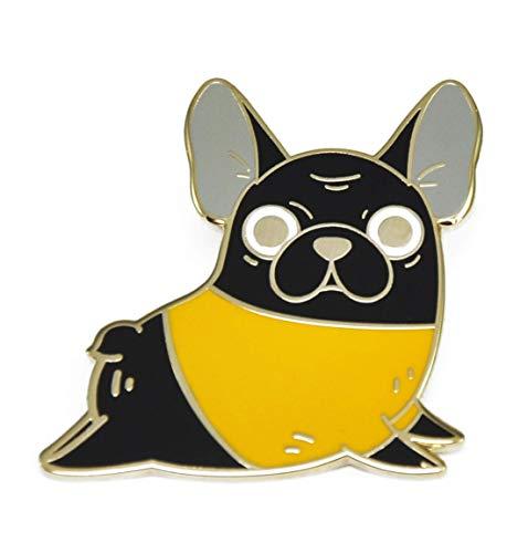 Noristudio Black French Bulldog Enamel Pin