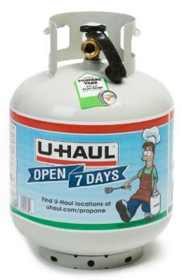 U-Haul 20 lb. Propane Tank with Built-in Gauge - POL and QCC Compatible - Approx. 4.6 Gallon Propane Gas Capacity