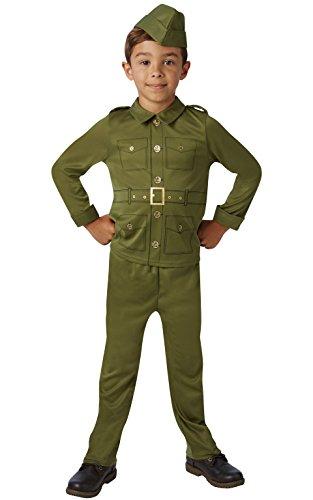 Rubie's Déguisement de soldat officiel de la Seconde Guerre mondiale pour enfant – Taille M