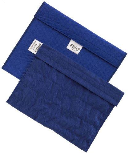 FRIO Kühltasche für Insulin, 21 x 15cm, blau - KEIN Eispack oder Batterien nötig, für bis zu 9 Insulinpens in Standardgröße ODER eine Kombinationen von Pens, Ampullen oder Patronen ODER 4 Epi Pens