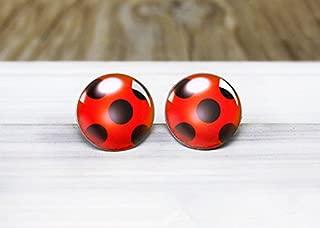 ladybug earrings miraculous