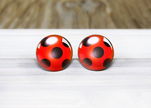 Ladybug Charm Ladybug Earrings Ladybird Design Bug Earrings Ladybird Earrings Silver Bug Earrings Ladybird Jewellery Ladybug Jewellery