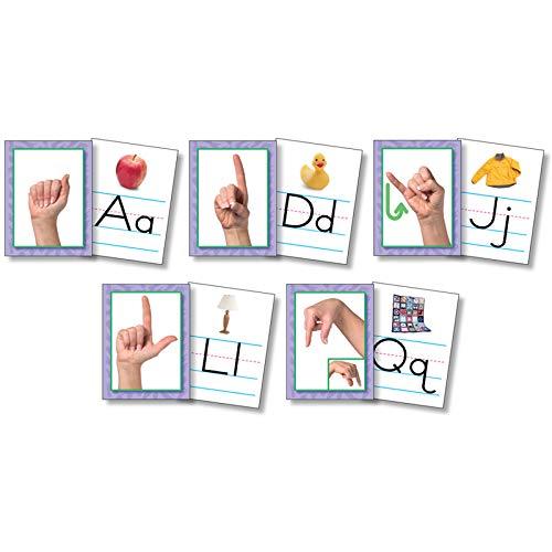 North Star Teacher Resource NST9082 American Sign Language Alphabet Cards, Set of 26