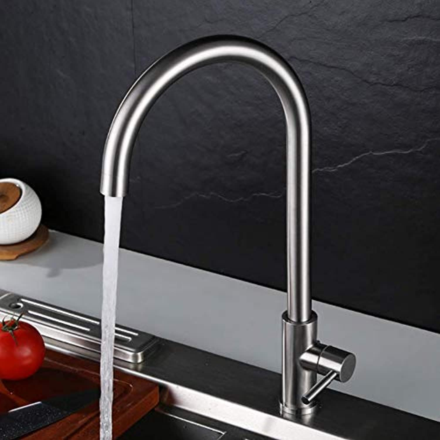 Kitchen Faucet redating Kitchen Sink Faucet Stainless Steel Kitchen Single Cold Faucet,