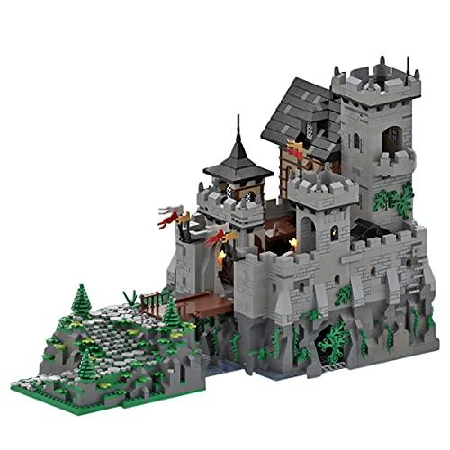 WWEI Arquitectura modular de casa, bloques de construcción, 5110 piezas, piedra medieval, juego de construcción compatible con Lego 21325 forja medieval