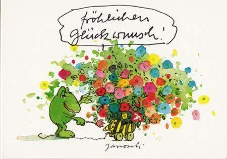 Janosch Postkarte Fröhlichen Glückwunsch