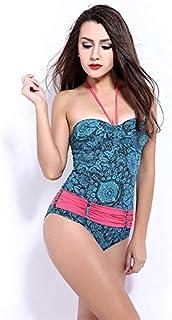 7603414768d BEESCLOVER Underwire Bodysuit One Piece Swimsuit Striped Women Swimwear  Halter Slimming Push Up Bathing Suit Femme