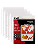 """Clear Sheet Protectors, 8.5"""" x 11"""", 250 pack, Durable, Top Load,Reinforced Holes, Acid-Free/Archival Safe [並行輸入品]"""