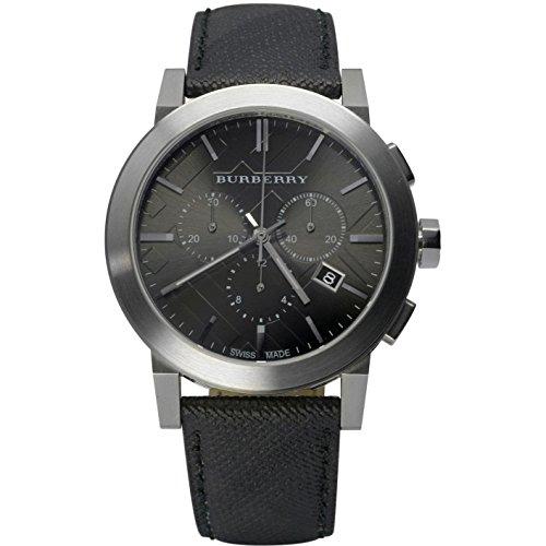 Burberry BU9362–Uhr für Männer, Lederband grau