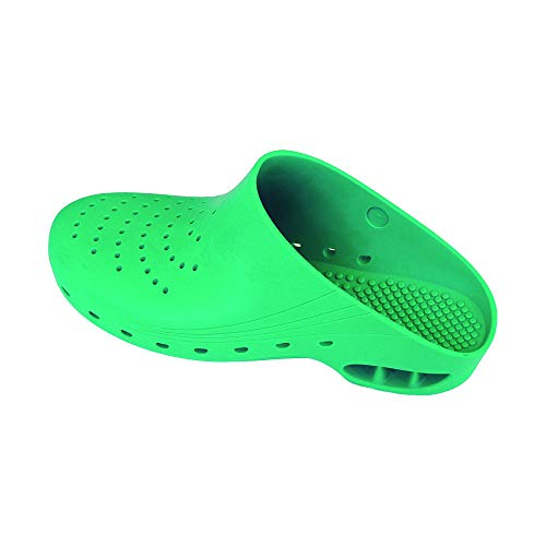Zuecos Sanitarios de Trabajo Top Klog • Zuecos Mujer y Hombre con Suela de Goma Antideslizante • Zapatos para Enfermería Y Hostelería • Talla 41 • Color Verde