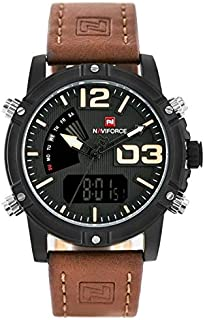 Naviforce Men's Black Dial Nylon Analog-Digital Watch - NF9095-BYBN