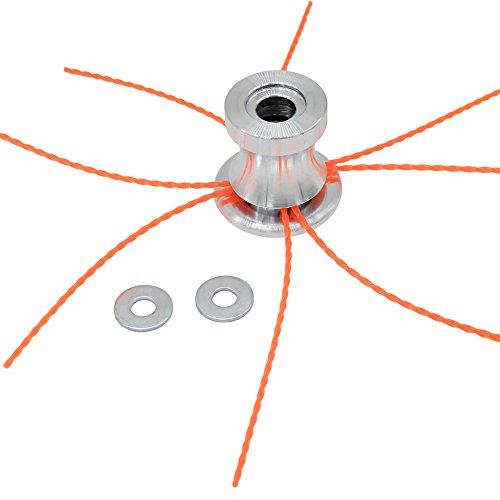 SWNKDG Aluminium Fadenkopf Rasentrimmer Kopf Doppelfadenkopf Fadenspule Nylonfaden für Benzin Motorsense Rasentrimmer, Twist Trimmerfaden extra stark