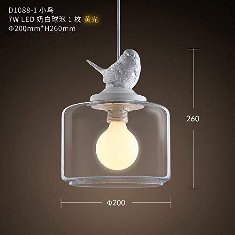 5151BuyWorld Lampe Nordic Pendelleuchten Kreativer Vogel Top Qualitt Licht Restaurant Hanglamp Dekor Schlafzimmer Wohnzimmer Glas Loft Galerie Küche Hngelampen {Gelb Light F}