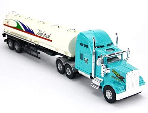LHY Durable Coche de Juguete 1:20 Escala Fundido a presión Kit de Remolque de Carga de Camiones Modelo Pull Back Ingeniería Regalo del Muchacho Vehículo Robusto (Color : Blue)