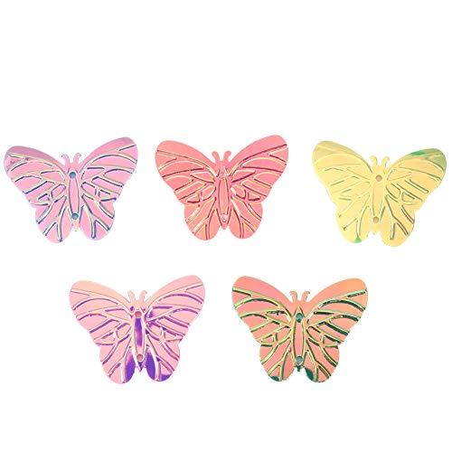 URRNDD Confeti práctico, Confeti de Papel, Confeti de Colores 60 g/Bolsa de plástico para cumpleaños de Bricolaje(Mariposa)