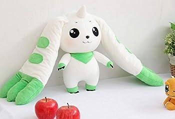 Anime Plush Digimon Terriermon Long Ears Plush Toy Soft Rabbit Stuffed Animal Bunny Doll Baby Kids Birthday Gifts 32cm White