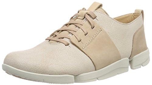 Clarks Tri Caitlin, Zapatillas para Mujer, Beige (Sand Combi), 38 EU