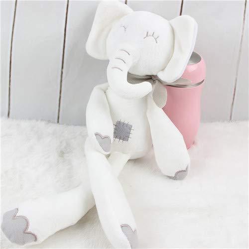 Knuffel, Schattige Konijn Olifant Baby Zachte Knuffels Pluche Konijn Knuffels Wit Cadeau Voor Kinderen 40cm Olifant
