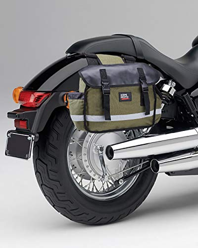 Motorcycle Saddle Bags, Middle-Sized Motorcycle Side Saddlebags Scooter Panniers Green