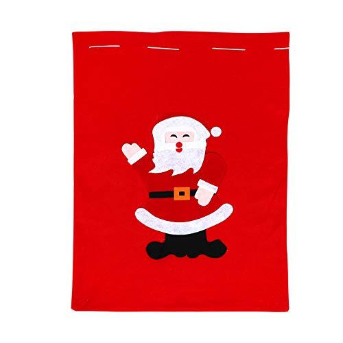 Wakauto Bolsas Grandes de Navidad Bolsas de Regalo de Santa Saco de Regalo Bolsas de Regalo con Cordón de Navidad Golosinas Dulces Bolsa de Fiesta de Galletas Suministros de Fiesta de