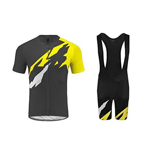 Uglyfrog Homme Cuissard VTT + Maillot Velo à Manches Courtes Respirant Vêtements de Cyclisme A05