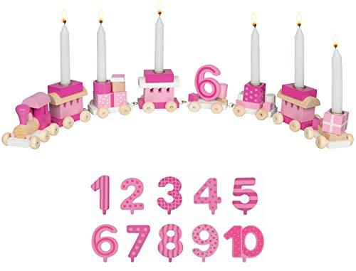Bambilino 9106 Geburtstagszug mit Zahlen 1 bis 10 - Rosa