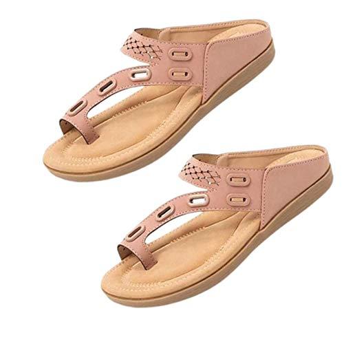 Dr.Care - Pantuflas Ortopédicas de Verano Premium para Mujer, Cómodas Pantuflas de Verano Ortopédicas para Mujer, Diseño de Soporte de Tres Arcos, Sandalias Antideslizantes (Pink,38)
