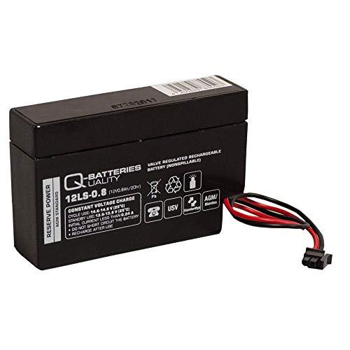 Q-Batteries 12LS-0.8 12V 0,8Ah AGM Blei-Vlies Akku für Heim und Haus Rolladen