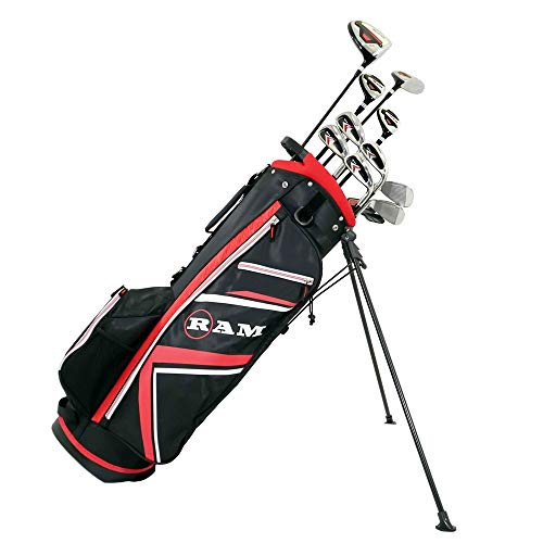 Ram Golf Accubar Plus Mens Right Hand Graphite/Steel Golf Clubs Set Stiff Flex