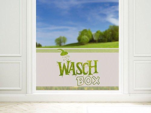 GRAZDesign Fensterfolie Milchglas selbstklebend für Bad Dusche Badfenster Waschbox Blickdicht, Klebefolie Fenster Sichtschutz / 80x57cm