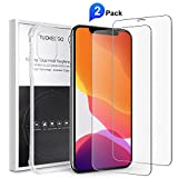 2-Pack iPhone 11 Screen Protector with Case 6.1',HD iPhone 11 Tempered Glass, 9H Shockproof Anti-Scratch/Slip Cover Case for iPhone 11