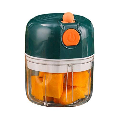 Mini Multi Zwiebel Küchenmaschine Zerkleinerer Tupper Küche Elektrisch Klein Gemüsezerkleinerer Zwiebelschneider, BPA-frei, Für Zerkleinerten Knoblauch, Ingwer, Chili, Erdnüsse, Hackfleisch, Kürbis